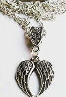 Pretty Guardian Angel Wings pendant Chain Necklace in Gift Bag - Protection