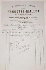 FACTURE MAISON HANNESSE GAILLOT REIMS CHATEAUX DE FESTIEUX 1868