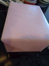 Pottery Barn Kids Pink leather photo box holder with dividers  New
