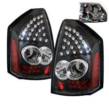 2005 2006 2007 CHRYSLER 300C 4DR LED ALTEZZA REAR TAIL LIGHTS BLACK NEW PAIR L+R