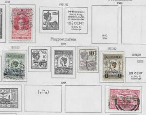 5 Dutch Indies Stamps from Quality Old Antique Album 1921-1928