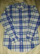 Janie and jack size 6 multi plaid and check oxford shirt