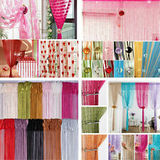 1M X 2M String Curtains Patio Net Fringe for Door Fly Screen Windows Divider
