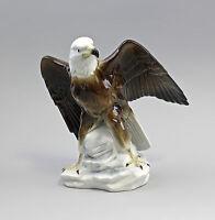9943068 Porzellan Figur Weißkopfadler Gräfenthal bunt  Thüringen 19x18cm