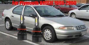 LED For Plymouth BREEZE 1996-2000 Headlight Kit 9007 HB5 White Bulbs Hi-Low Beam
