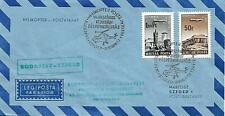 Hungary 1969 Helicopter Mail Budapest- Szeged Typed Cover My Ref 1410