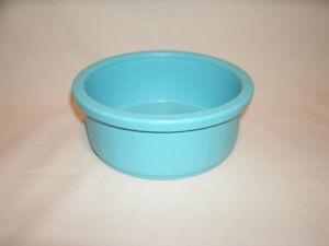 Blue Durable Plastic Crock Pet Food Bowl ~ Cats or Rabbits ~ #1