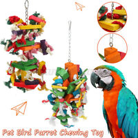 Bird Chewing Toy Parrot Cage Bite Toys African Grey Macaw Cockatoo Toys
