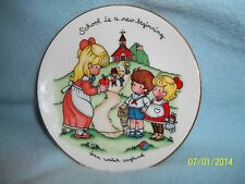 """Avon 1986 Joan Walsh Anglund Collector Plate 4"""" ~ Cute! Lqqk here >"""