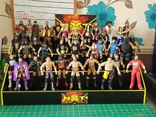 WWE NXT custom Made NXT wrestling Figure Display NO FIGS INCLUDED