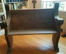 Beautiful Antique Wooden Intricately Gothic Carved Church Pew