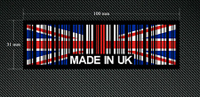2 x MADE IN UK BAR CODE Stickers/Decals with a Black Background - EURO - DUB