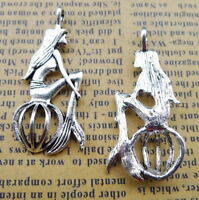 18pcs Tibetan silver boy and girl lover charms EF1375