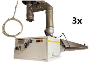 Gaz Industrie Dunkelstrahler Hallenheizung Gasheizung Heizstrahler Deckenheizung