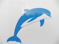 Dolphin fish animals bathroom stickers/car/van/bumper/window/decal 5223 Blue