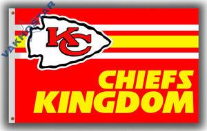 Kansas City Chiefs KINGDOM football team Memorable flag 90x150cm 3x5ft KC banner