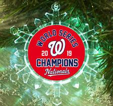 Washington Nationals World Series Snowflake Lit Holiday Christmas Tree Ornament
