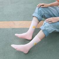 Women Cartoon Female Cotton Sock  Flowers Retro Tube Socks Girls Socks \
