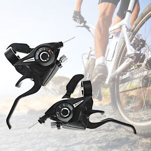 BICYCLE BIKE THUMB GEAR SHIFTER LEFT/RIGHT 3/7 SPEED HANDLEBAR SHIFT LEVERS