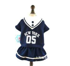 New listing Dog Puppy Sweater Dress Jacket Warm - Small Breeds, New York - Blue - S M L Xl