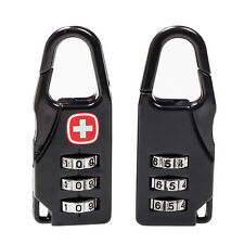 3 Dial Alloy cross symbol combination code lock for backpack suitcase Luggage