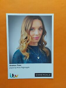 ANDREA TATE PLAYED BY ANNA NIGHTINGALE EMMERDALE UN-SIGNED ITV NEW  CAST CARD