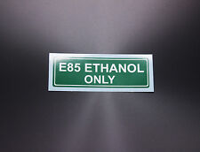 Warning Label E85 Ethanol Only Gas Gasoline Fuel Tank Sticker Decal