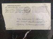 1945 US Sea Post Office Shanghai China US Arms Postal Service To Lynn Ma Usa