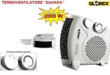 TERMOVENTILATORE STUFE SAHARA 1000-2000W CON TERMOSTATO RISCALDAMENTO 25x12x25 h