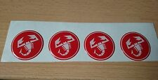 4x Abarth Scorpion vinyl decals stickers Fiat 500 Punto Sciento GEL DOMED