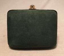 Mark Cross Vintage Green Suede Clutch
