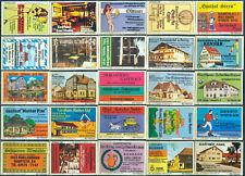 25 alte Gasthaus-Streichholzetiketten aus Deutschland #910