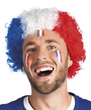 Perruque france drapeau bleu blanc rouge foot coupe monde deguisement supporter