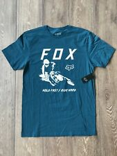 Fox Racing Hold Fast Premium Shirt Motocross Maui Blue White Sz L ( 23739-551 )