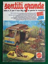 VV73 Pubblicità Advertising Clipping 19x13 cm (1974) BIG JIM ROULOTTE MATTEL