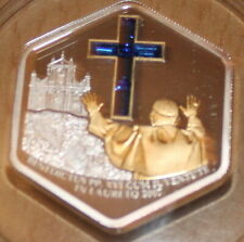 5 Dollar Cook Island 2007 silber Papstbesuch in Loretto Vatikan