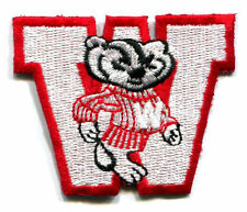 "WISCONSIN BADGERS NCAA COLLEGE 2.5"" MASCOT LETTER TEAM PATCH"