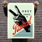 Obey Radical Peace Shepard Fairey Blue Poster Print In Hand