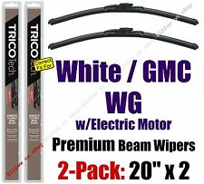 Wiper Blades 2-Pack Premium fit 1990 White GMC WG w/Electric Motor 19200x2