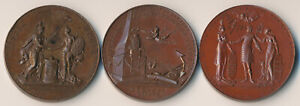 ++WOW++ THREE HOLLAND SOCIETY OF NEW YORK MEDALS (1904-1906) MUST SEE !!  NO RSV