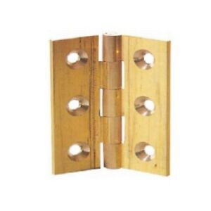 Solid Brass Butt Hinges 38,50,63,75,100mm - 1 pair & screws & pack 10 pairs