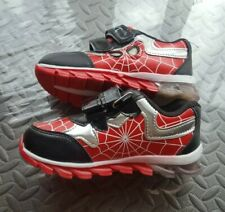 BNIB Boys Spiderman Trainers Shoes Kids Running Black/Red Size 33
