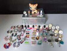 Littlest Pet Shop Random Lot of 8 Accessories Custom Perfume Mirror Compact   #1