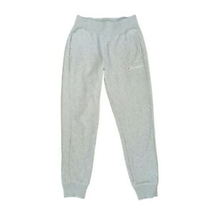Champion Reverse Weave Light Gray Jogger Sweatpants Womens Size S Spell Out Logo