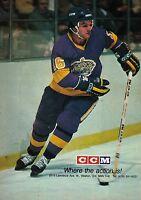 1980 CCM Hockey Sticks Marcel Dionne La Kings Vintage Print Advertisement