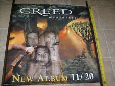 Creed Weathered Rare Promotional Record Store Promo Rock Poster