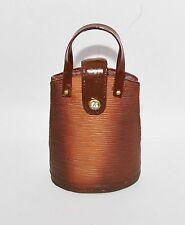 JC Penney BROWN BRONZE LEATHER Sactchel Bag Purse Handbag Resin Ornament