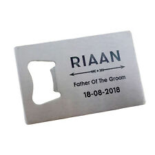 1pcs Personalized Engraved Credit Card Bottle Opener Customs wedding Favor gift