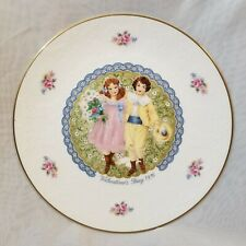 Royal Doulton My Valentine Day Couple Plate 1976 Roses Gold Edging Free Shipping