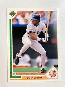 Deion Sanders 1991 Upper Deck Baseball Card #352 New York NY Yankees NFL HOF MLB